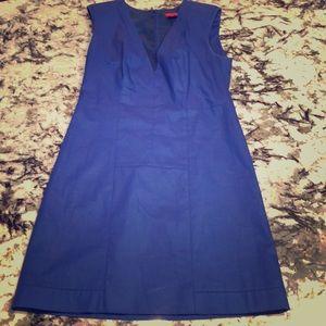 Royal Blue HUGO BOSS V-Neck Dress
